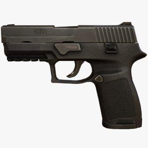 p250 compact pistol 3d max