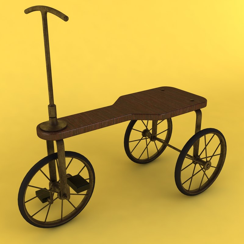 3ds vintage tricycle
