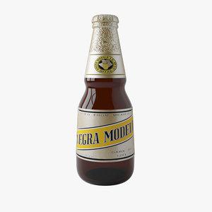 3d model of mexican beer negra modelo