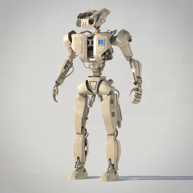 robot android 3d 3ds