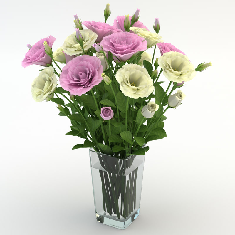 eustoma colorful 3d obj