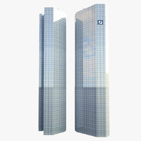 3ds max skyscraper deutsche bank