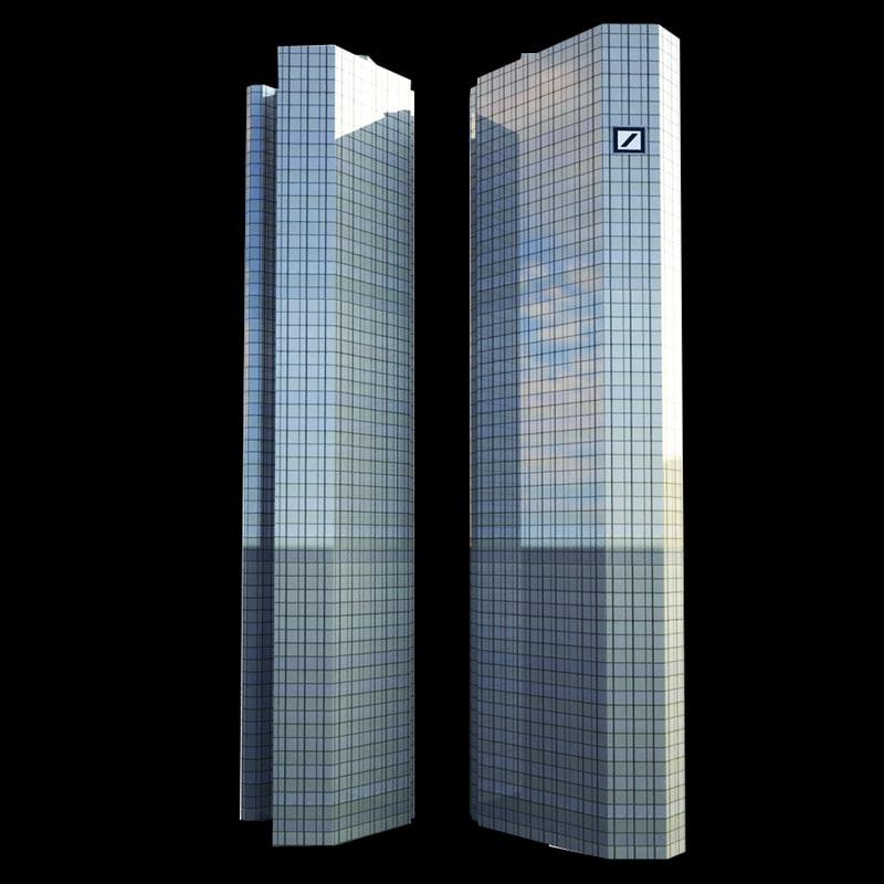 3ds max skyscraper deutsche bank