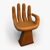 art hand chair obj