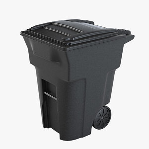 trash bin 3d 3ds