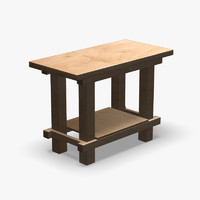 3d model of bench workbench table
