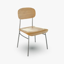 school chair 3D models