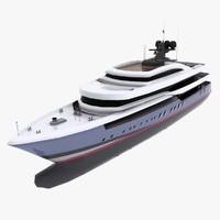 3d yacht cruising 65m