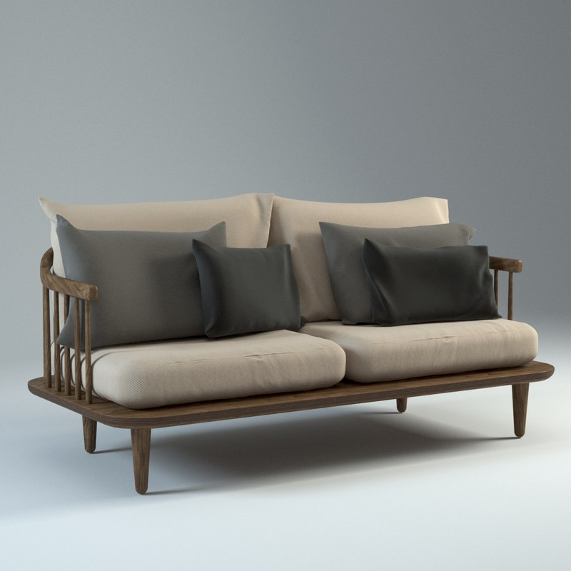 fly lounge sofa 3d max