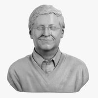3d decorative bust bill gates model