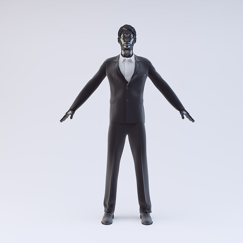 showroom mannequin male 016 3d model