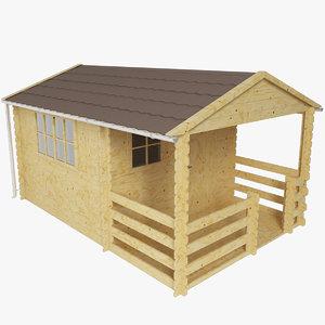 3d realistic cottage