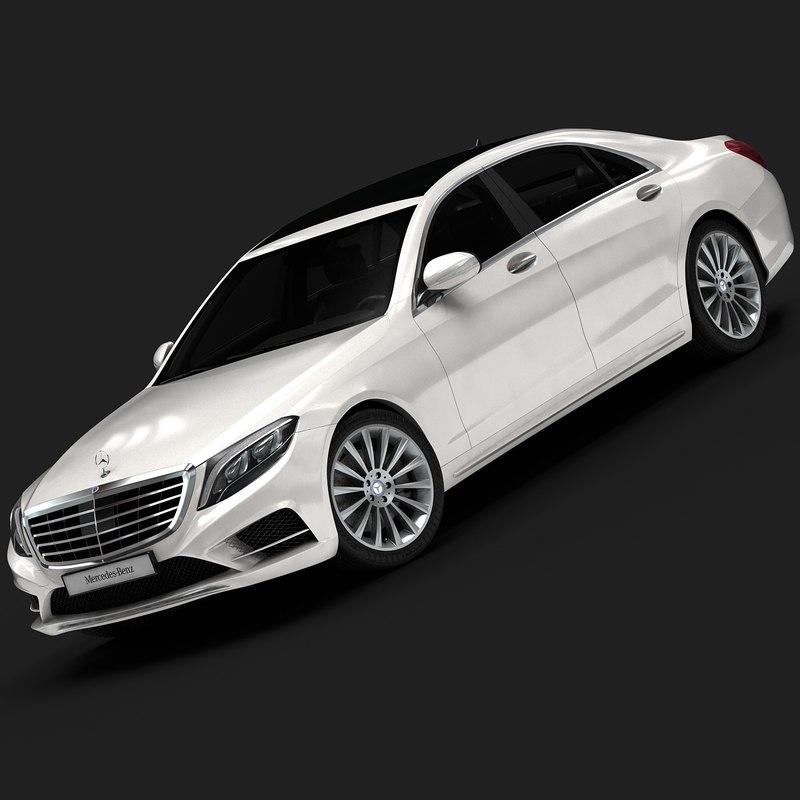 3d max 2014 mercedes-benz s-class interior