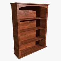 3d model book shelf