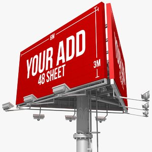 billboard 48 sheet triangles 3d dxf
