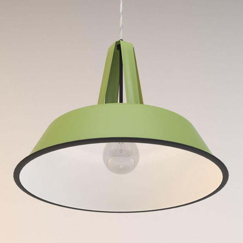 retro industrial lamp light 3d max