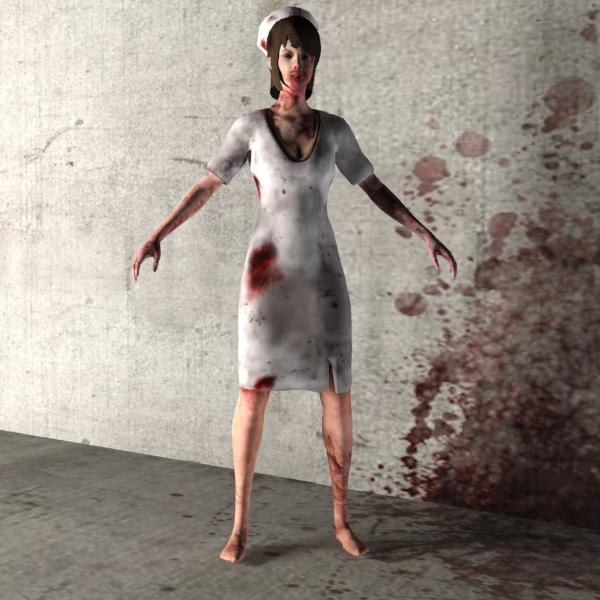 zombie 04 female character 3d max
