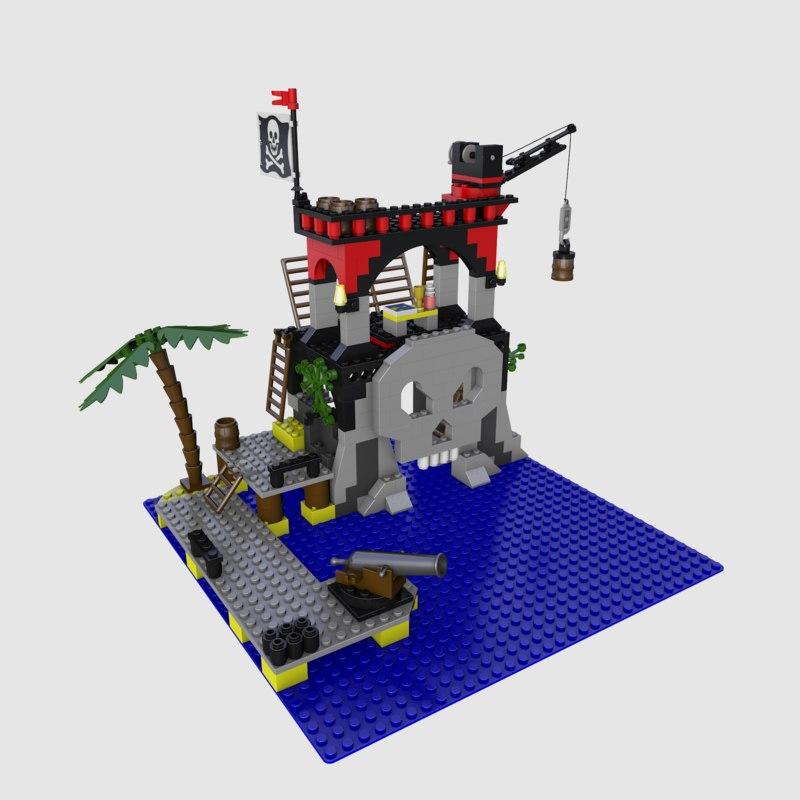 6279 skull island 3d c4d