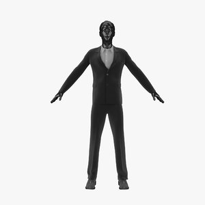 showroom mannequin male 016 3d model