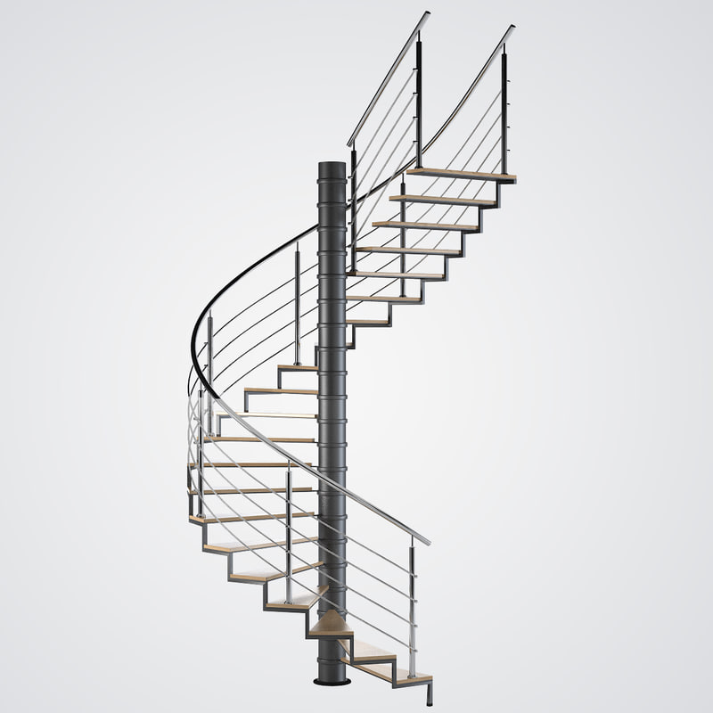 3d model spiral stair for Spiral stair