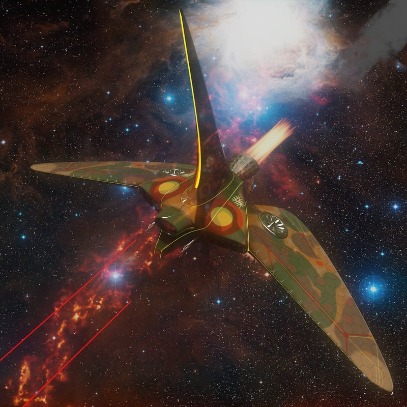 3ds max sci fi spaceship orion