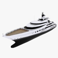 3d motor yacht palladium cruising model