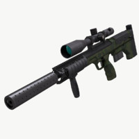 sniper rifle srs dta 3d model