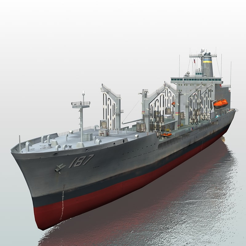 3d model of usns oil tanker