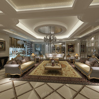 3d model european style interior