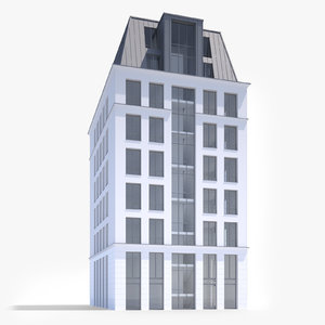 modern office building 3d obj