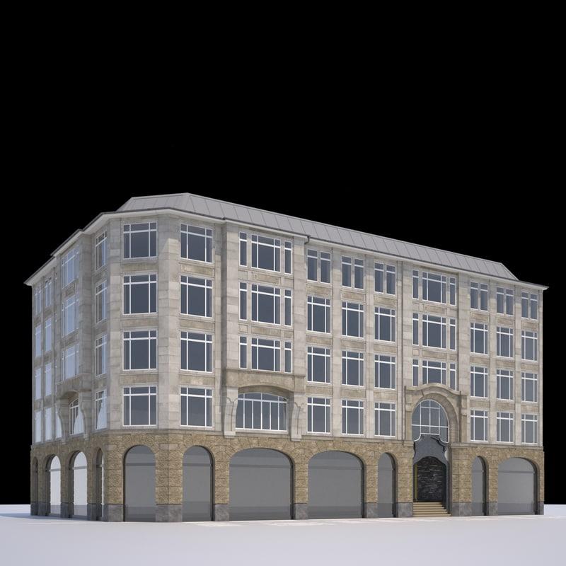classic office building 3d x