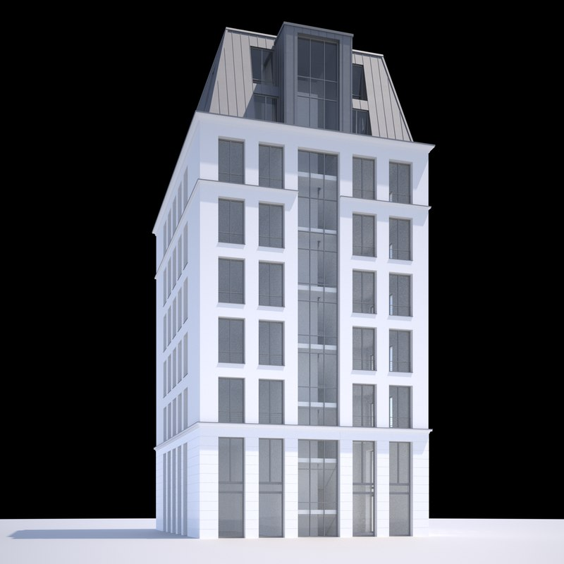 modern office building 3d obj