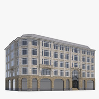 classic office building 3d x