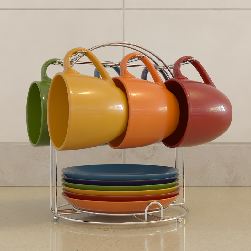 plate cup 3d max
