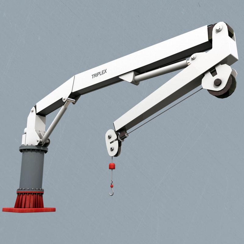 3dsmax deck crane