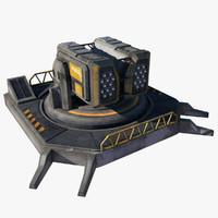 max futuristic missile turret