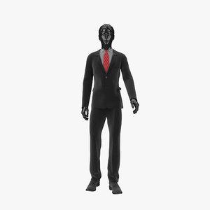 showroom mannequin male 023 3d model