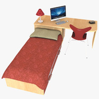 Compact Desk and Bed