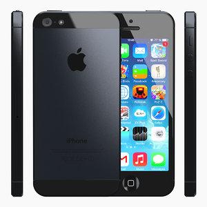 iphone 5 slate black 3d 3ds