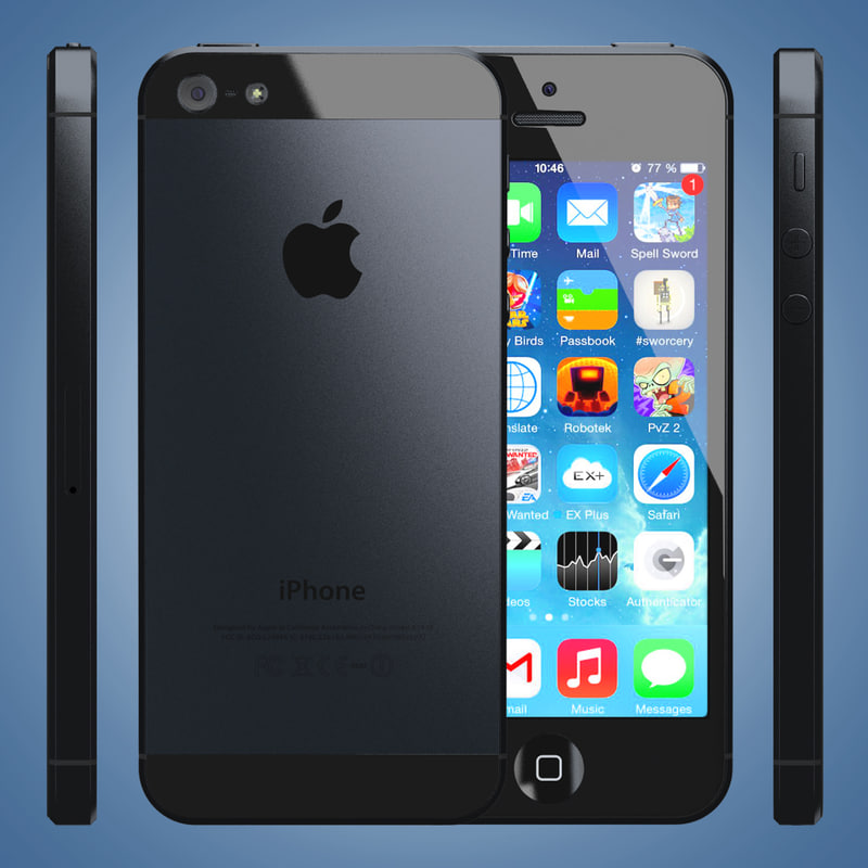 iphone 5 black iphone 5 slate black 3d 3ds 10959