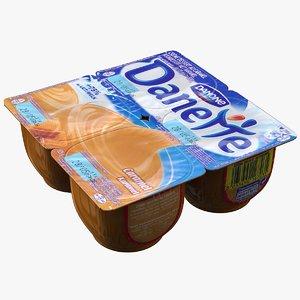 3d model cream caramel
