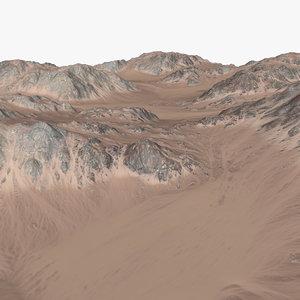 landscape terrain desert 3d model