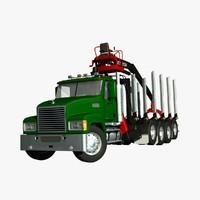 mack truck logger 3d model