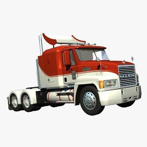 mack ch truck sleeper 3d model
