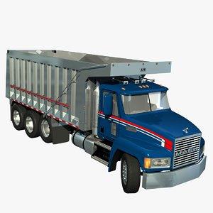 mack ch dump truck 3d model