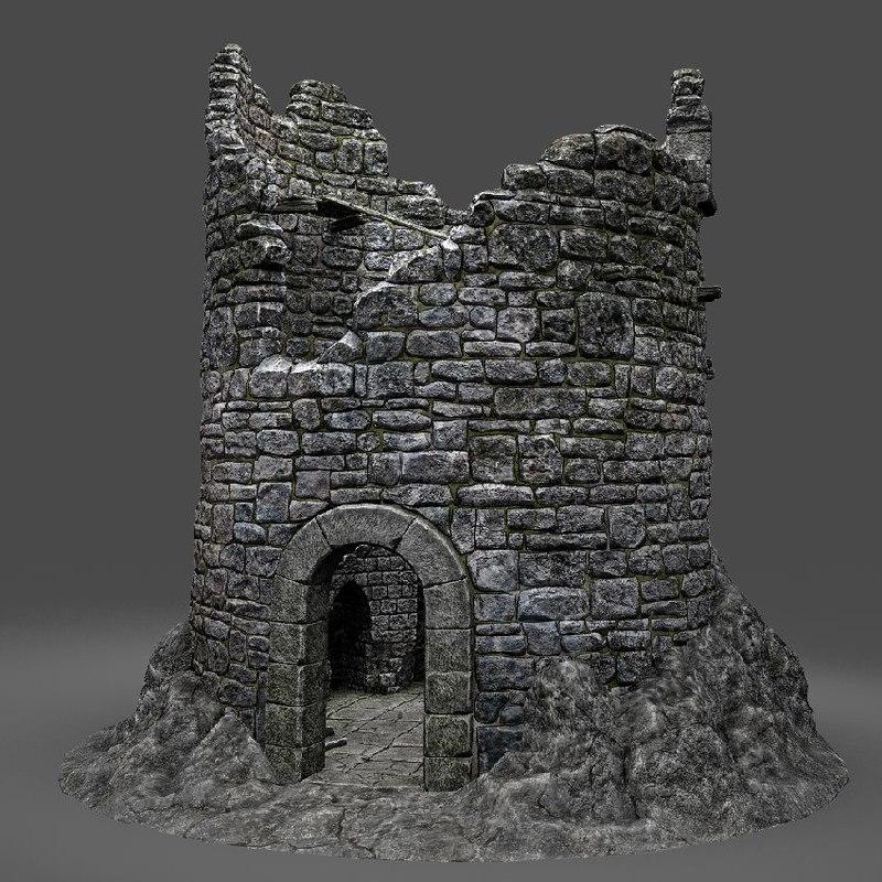 obj tower ruin