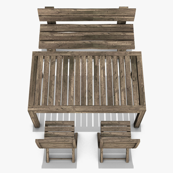 modeled garden furniture 3ds