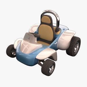 cartoon race car 3d max