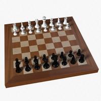 obj plastic chess