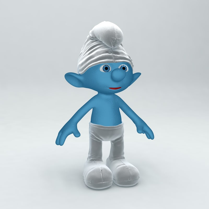 smurf rigged animation 3d model
